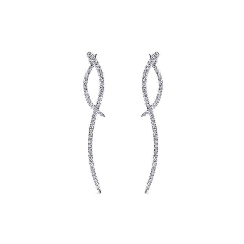 Gabriel  14K W.Gold Diamond Earring