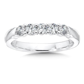 Prong set Round Diamond Wedding Band 14k White Gold (1/2ct. tw.)