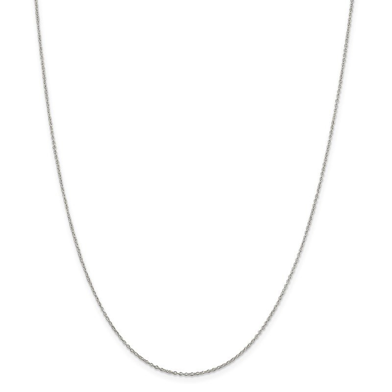 J.F. Kruse Signature Collection Sterling Silver Rhodium-plated 1.1mm Forzantina Cable Chain w/2in ext.