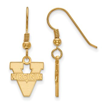Gold-Plated Sterling Silver University of Virginia NCAA Earrings