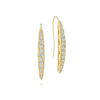 Pavé Surfboard Drop Earrings