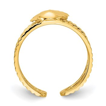 14k Sea Shell Toe Ring