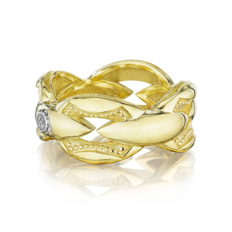 Tacori Fashion Bold Crescent Links Ring in Yellow Gold