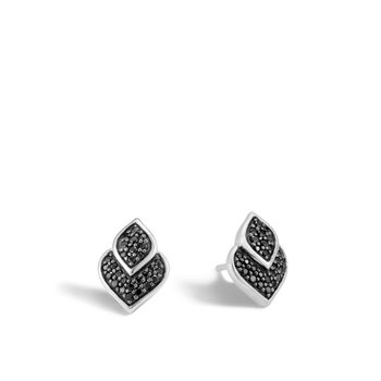 Legends Naga 13x9.5MM Stud Earring in Silver with Gemstone