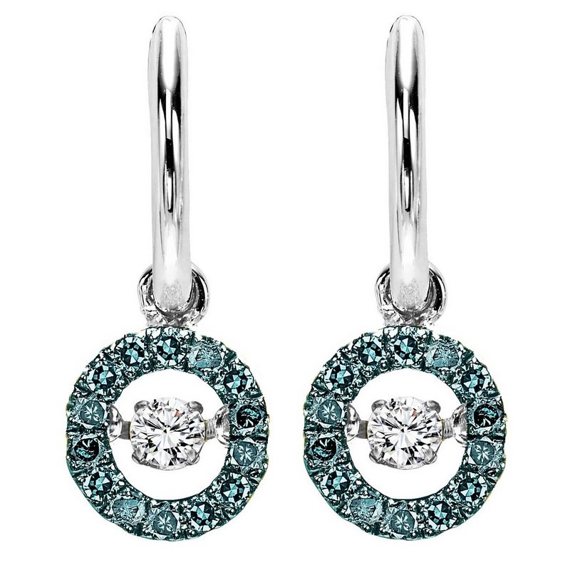 Rhythm of Love Silver Blue & White Diamond Rhythm Of Love Earrings