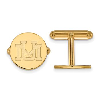 Gold University of Montana NCAA Cuff Links