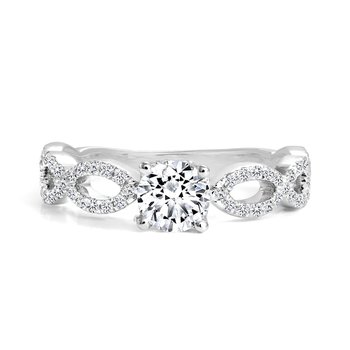 Open Twist Diamond Engagement Ring