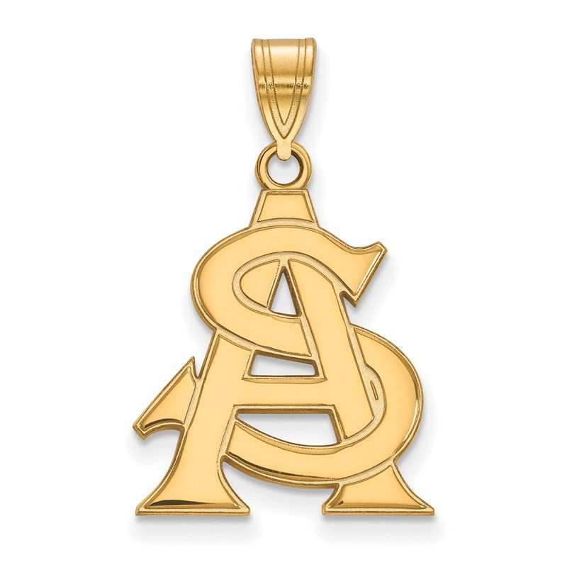 NCAA Gold-Plated Sterling Silver Arizona State University NCAA Pendant