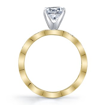 MARS 27220 Diamond Engagement Ring, 0.14 Ctw.