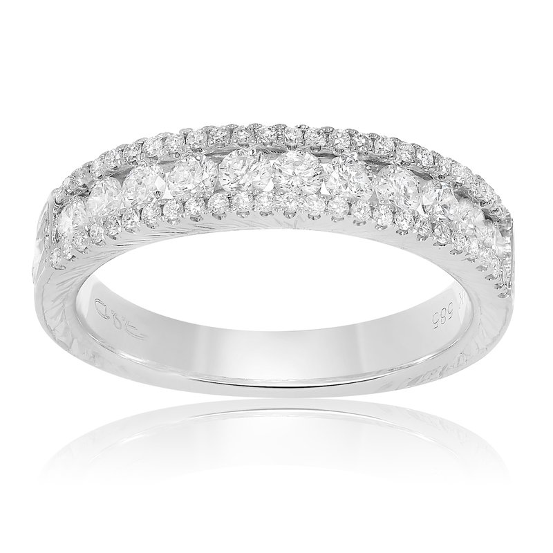 Roman & Jules Ornate White Diamond Band