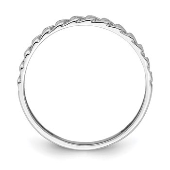 14K White Gold Link Design Ring