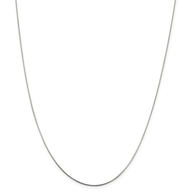Arizona Diamond Center Collection Sterling Silver .85mm Diamond-cut Snake Chain