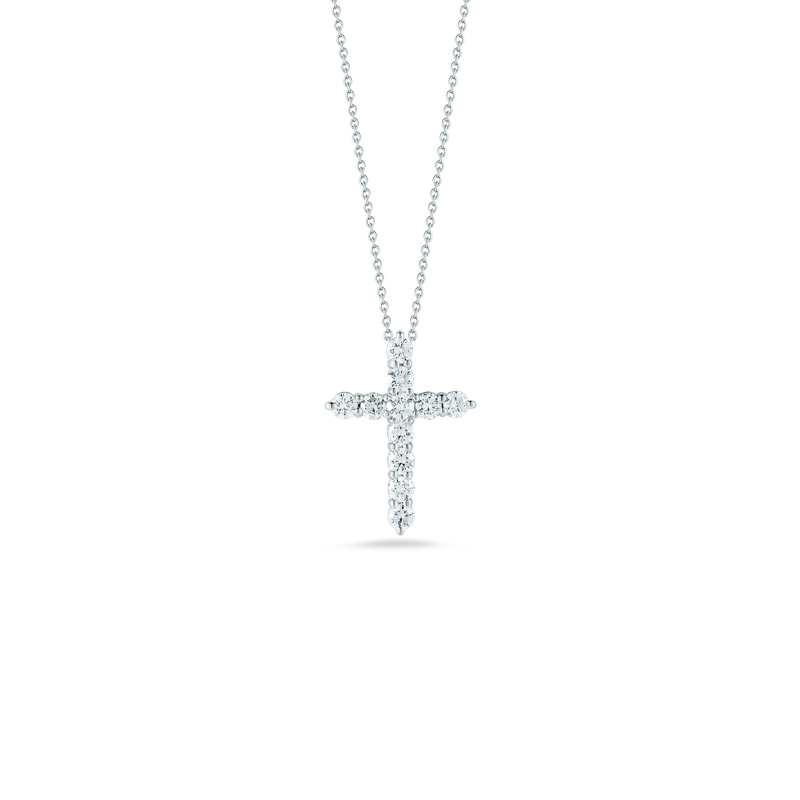 Roberto Coin Cross Pendant With Diamonds