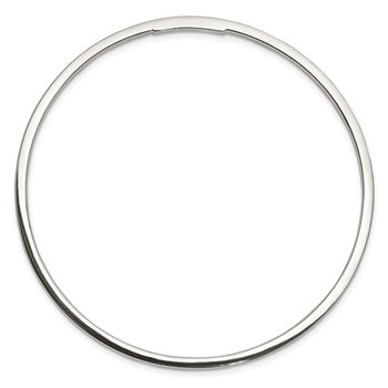 Sterling Silver 2mm Squared Edge Slip-on Bangle Bracelet