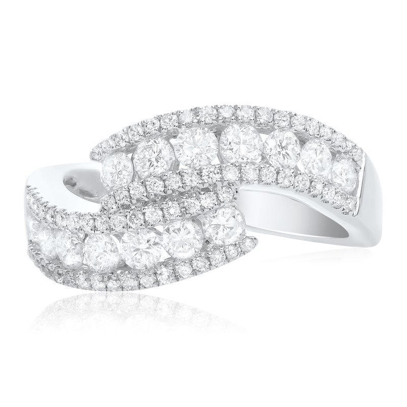 Roman & Jules White Diamond Overlapping Ring