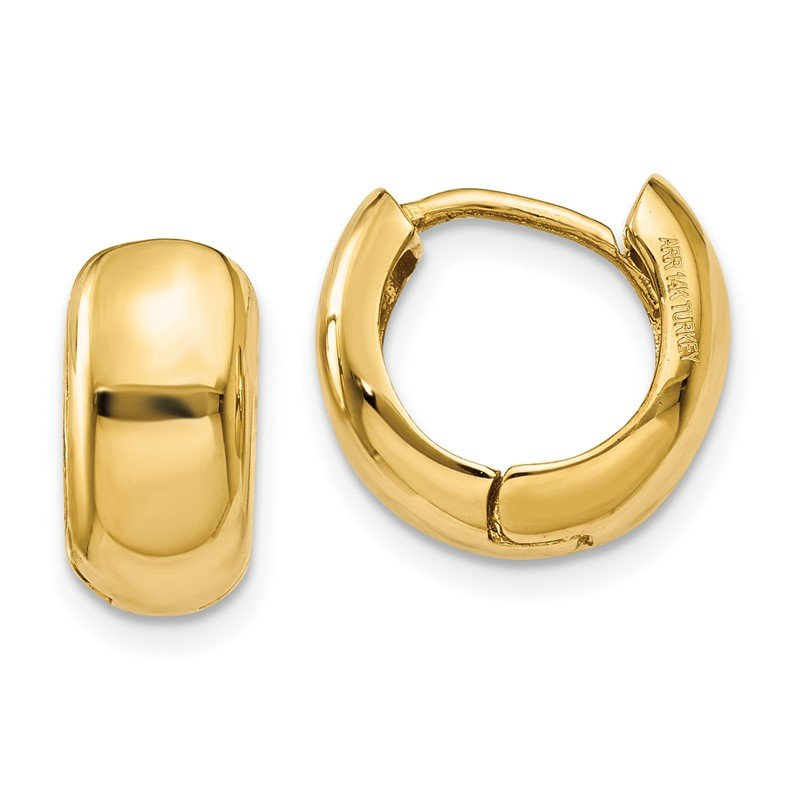 Quality Gold 14K Hinged Hoop Earrings