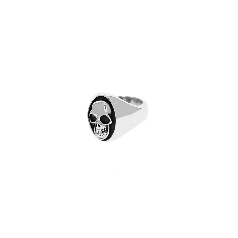 King Baby Large Skull Motif Ring