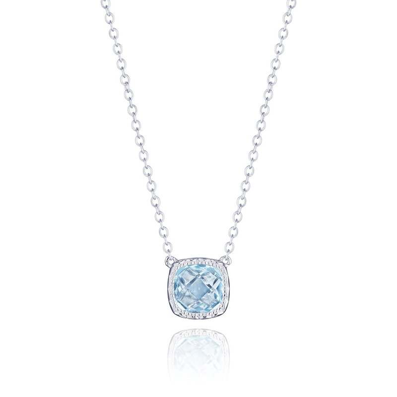 Tacori Fashion Petite Cushion Gem Necklace with Sky Blue Topaz