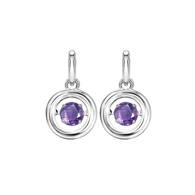 Rhythm of Love Silver Amethyst Rhythm Of Love Earrings