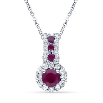 14K 0.17Ct Diamond Pendant