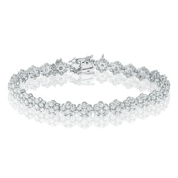 Flowering White Diamond Bracelet