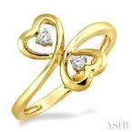 Crocker's Collection twin heart shape 2stone diamond ring