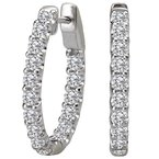 Tesoro Ladies Diamond Hoop Earrings