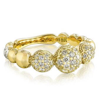 Bold Pavé Cascading Dew Drops Ring