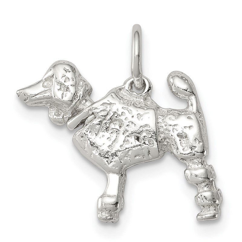 Arizona Diamond Center Collection Sterling Silver Poodle Charm