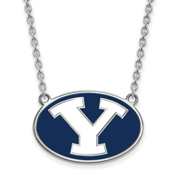 Sterling Silver Brigham Young University NCAA Necklace