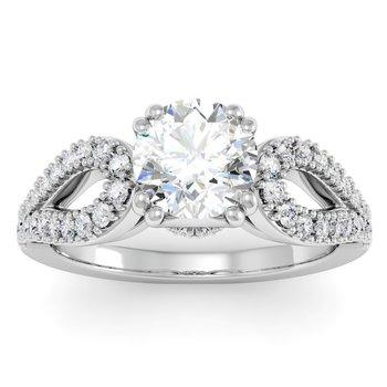 Antique Round Diamond Engagement Ring