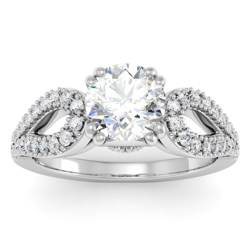 California Coast Designs Antique Round Diamond Engagement Ring