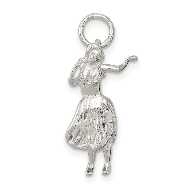 Quality Gold Sterling Silver Hula Dancer Charm