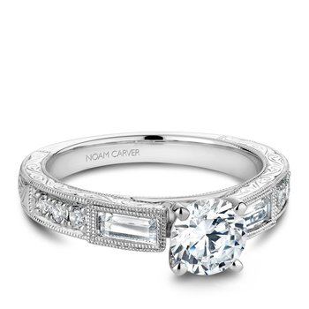 Noam Carver Vintage Engagement Ring B058-01A