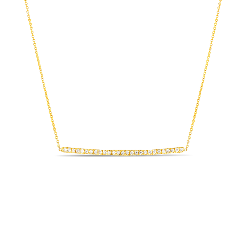 Roberto Coin  #26643 Of Diamond Bar Pendant On Chain
