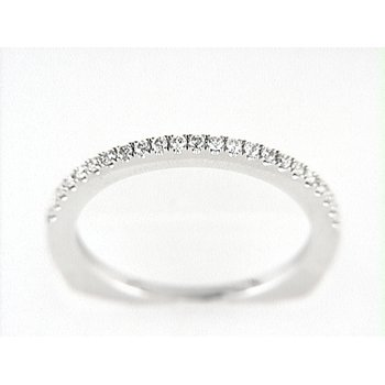 14K W BAND 23RD 0.19CT EURO-SHANK