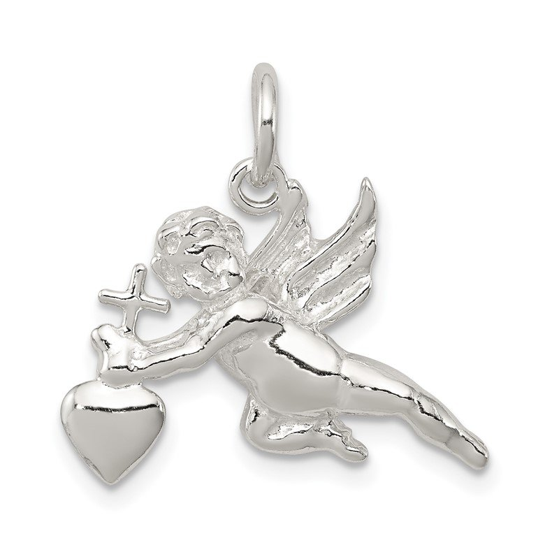 Quality Gold Sterling Silver Cupid Charm