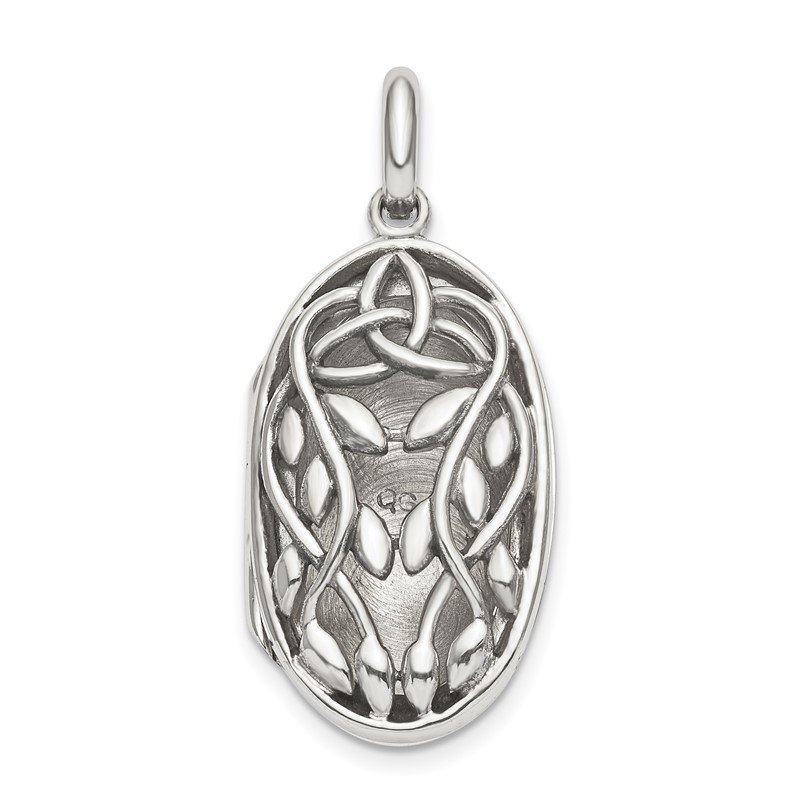 Quality Gold Sterling Silver Antiqued Filigree 23mm Locket Pendant
