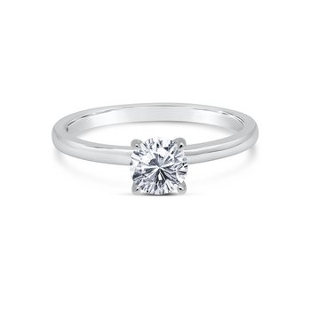 Kirk Kara 14K White Gold Solitare Engagement Ring
