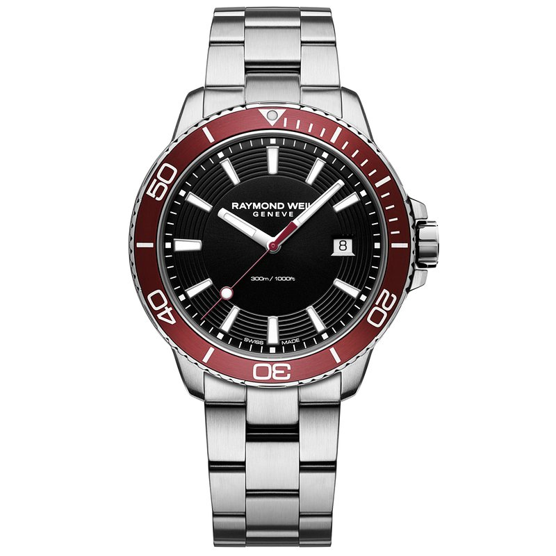 Raymond Weil Tango 300 Red Diver Quartz Watch