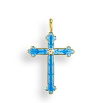 Blue Cross Pendant.18K -Diamond