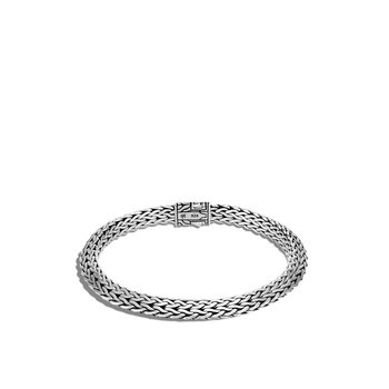 Tiga Classic Chain 6.5MM Bracelet in Silver, Gemstone, Diamonds