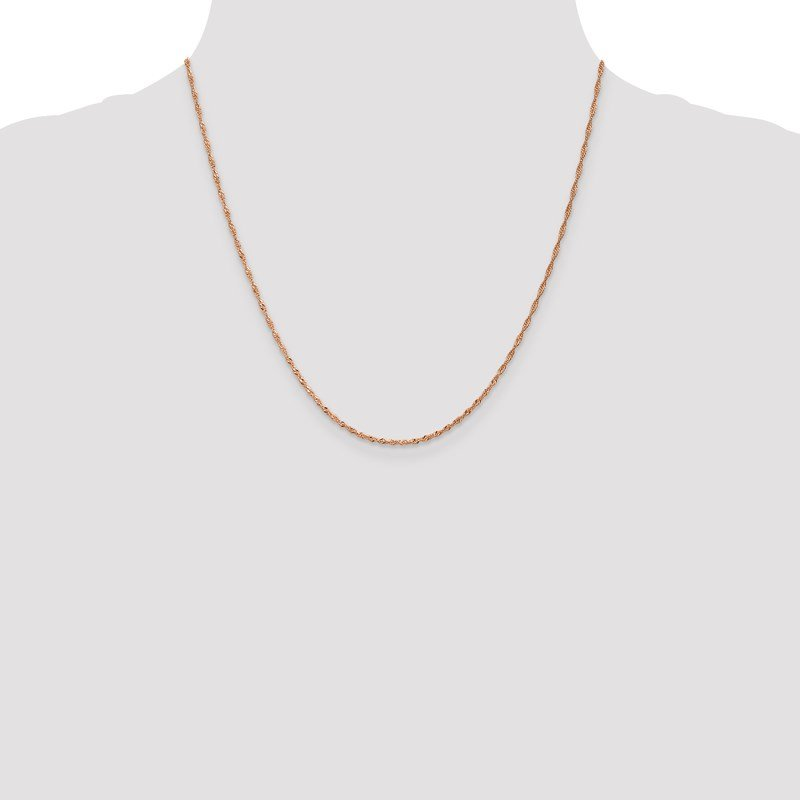Leslie's Leslie's 14K Rose Gold 1 mm Singapore Chain