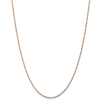 Leslie's 14K Rose Gold 1mm Singapore with Lobster Clasp Chain