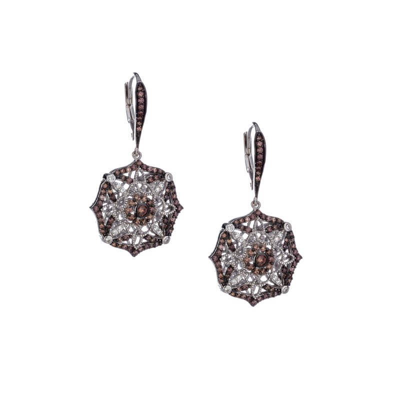 Keith Jack Night & Day Scalloped Earrings