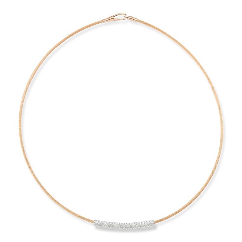I. Reiss 14K-P SUPER FLEX WIRE NECK., 0.45CT