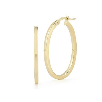 18KT GOLD SMALL ROUND HOOP EARRINGS