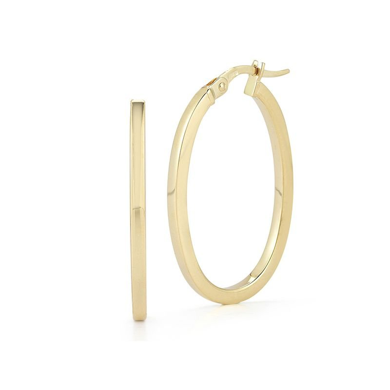 Roberto Coin 18KT GOLD SMALL ROUND HOOP EARRINGS