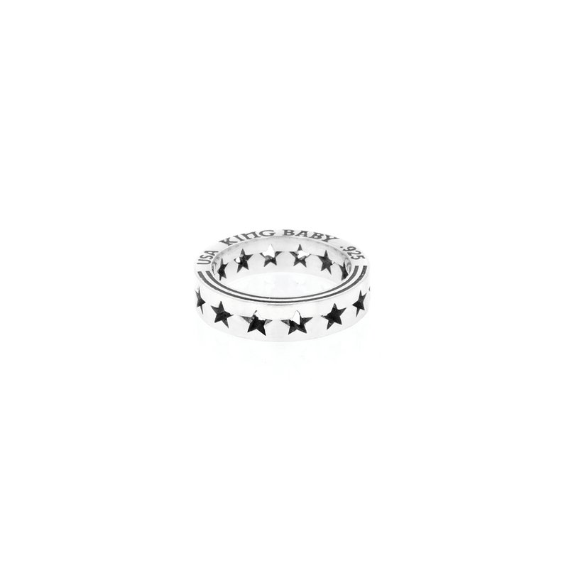 King Baby Pierced Star Stackable Ring