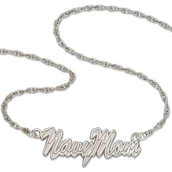 Sterling Silver United States Naval Academy NCAA Necklace